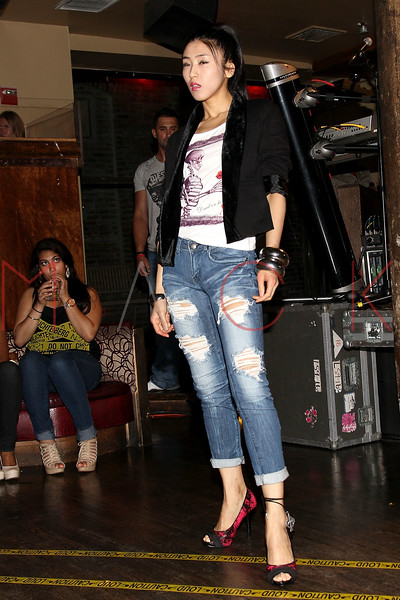 NEW YORK, NY - JULY 18:  A model walks the runway at the U.S. launch of Junks Tokyo/Japan at Kiss & Fly on July 18, 2011 in New York City.  (Photo by Steve Mack/S.D. Mack Pictures)