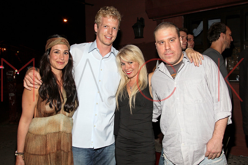 NEW YORK, NY - JULY 07:  Danielle Simms, Quarterback for the Tennessee Titans Chris Simms, Roberta Thompson and Noel Ashman attend Noel Ashman's birthday party at Five on July 7, 2011 in New York City.  (Photo by Steve Mack/S.D. Mack Pictures) *** Local Caption *** Danielle Simms; Chris Simms; Roberta Thompson; Noel Ashman