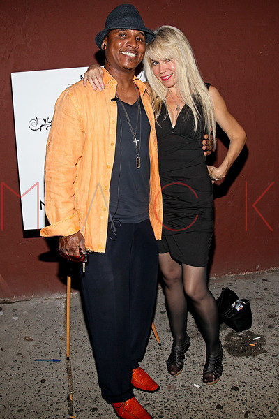 NEW YORK, NY - JULY 07:  Recording artist Justice and Roberta Thompson attend Noel Ashman's birthday party at Five on July 7, 2011 in New York City.  (Photo by Steve Mack/S.D. Mack Pictures) *** Local Caption *** Justice; Roberta Thompson