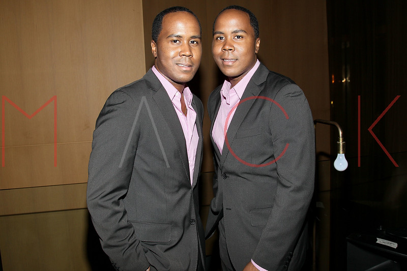 NEW YORK, NY - JULY 08:  Publicists Antoine Von Boozier and Andre Von Boozier attend the Nuovo Magazine red carpet event at Trump World Towers on July 8, 2011 in New York City.  (Photo by Steve Mack/S.D. Mack Pictures) *** Local Caption *** Antoine Von Boozier; Andre Von Boozier