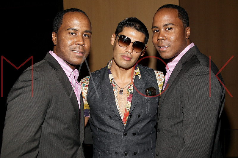 NEW YORK, NY - JULY 08:  Publicists Antoine Von Boozier, Andy Diaz and Andre Von Boozier attend the Nuovo Magazine red carpet event at Trump World Towers on July 8, 2011 in New York City.  (Photo by Steve Mack/S.D. Mack Pictures) *** Local Caption *** Antoine Von Boozier; Andy Diaz; Andre Von Boozier