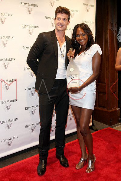 NEW YORK, NY - JULY 12:  Robin Thicke (L) attends Remy Martin V Official launch party at Lavo NYC on July 12, 2011 in New York City.  (Photo by Steve Mack/S.D. Mack Pictures) *** Local Caption *** Robin Thicke