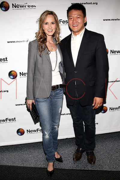 "NEW YORK, NY - JULY 22:  Singer Chely Wright and Lt. Dan Choi attend the screening of ""Wish Me Away"" at the SVA Theater on July 22, 2011 in New York City.  (Photo by Steve Mack/S.D. Mack Pictures) *** Local Caption *** Chely Wright; Dan Choi"