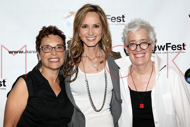 """NEW YORK, NY - JULY 22:  Co-director Beverly Kopf, singer Chely Wright, and co-director Bobbie Birleffi attends the screening of """"Wish Me Away"""" at the SVA Theater on July 22, 2011 in New York City.  (Photo by Steve Mack/S.D. Mack Pictures) *** Local Caption *** Beverly Kopf; Chely Wright; Bobbie Birleffi"""