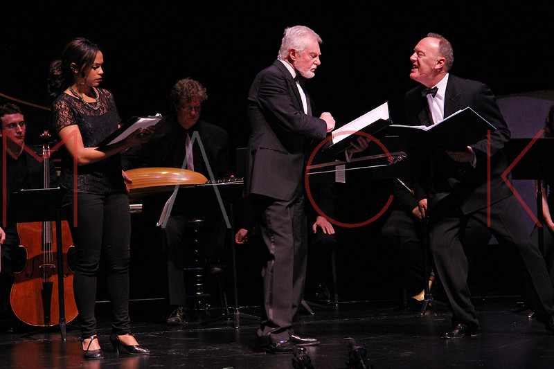 NEW YORK, NY - JUNE 13:  Monica Raymund, Sir Derek Jacobi and Richard Clifford perform on stage at the 2011 Juilliard Drama Benefit at the Peter Jay Sharp Theater on June 13, 2011 in New York City.  (Photo by Steve Mack/S.D. Mack Pictures) *** Local Caption *** Monica Raymund; Sir Derek Jacobi; Richard Clifford