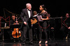 NEW YORK, NY - JUNE 13:  Sir Derek Jacobi and Monica Raymund perform on stage at the 2011 Juilliard Drama Benefit at the Peter Jay Sharp Theater on June 13, 2011 in New York City.  (Photo by Steve Mack/S.D. Mack Pictures) *** Local Caption *** Sir Derek Jacobi; Monica Raymund