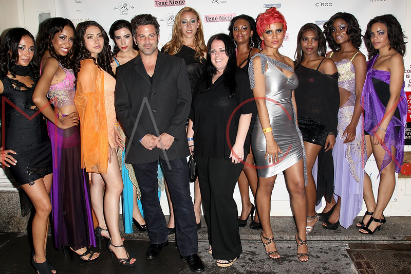 "NEW YORK, NY - JUNE 22:  James Joseph and Kate McDermott (front center) pose with models at the ""Men Of Height"" 2011 NBA Pre-Draft event at Nikki Midtown on June 22, 2011 in New York City.  (Photo by Steve Mack/S.D. Mack Pictures) *** Local Caption *** James Joseph; Kate McDermott"