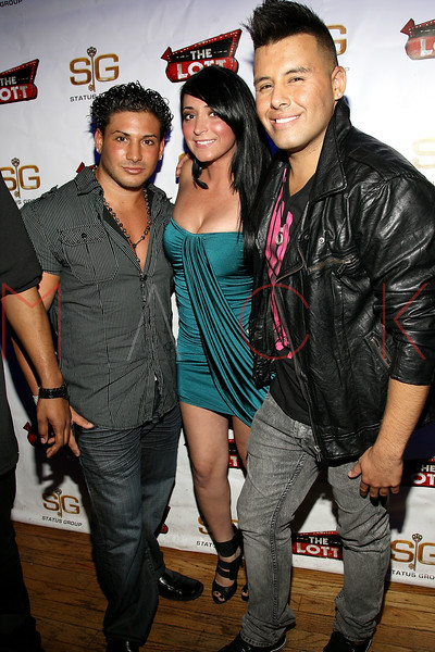 NEW YORK, NY - JUNE 24:  Emilio Masella, Angelina Pivarnick and Johnny Donovan attend Angelina Pivarnick's Birthday Celebration at The Lott on June 24, 2011 in New York City.  (Photo by Steve Mack/S.D. Mack Pictures) *** Local Caption *** Emilio Masella; Angelina Pivarnick; Johnny Donovan
