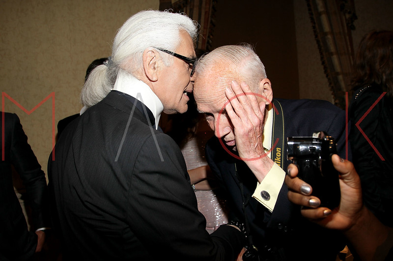 New York - June 01: Karl Lagerfeld, Bill Cunningham in attendance at The Gordon Parks Foundation Awards Dinner and Auction at Gotham Hall on Wednesday, June 1, 2011 in New York, NY.  (Photo by Steve Mack/S.D. Mack Pictures)
