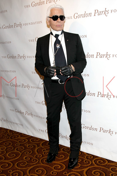 New York - June 01: Karl Lagerfeld in attendance at The Gordon Parks Foundation Awards Dinner and Auction at Gotham Hall on Wednesday, June 1, 2011 in New York, NY.  (Photo by Steve Mack/S.D. Mack Pictures)