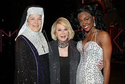 """New York, NY - June 08:  The production of """"Sister Act"""" backstage, New York, USA."""