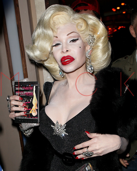 NEW YORK, NY - JUNE 11:  Model/performer Amanda Lepore visits Club 57 at Providence on June 11, 2011 in New York City.  (Photo by Steve Mack/S.D. Mack Pictures) *** Local Caption *** Amanda Lepore