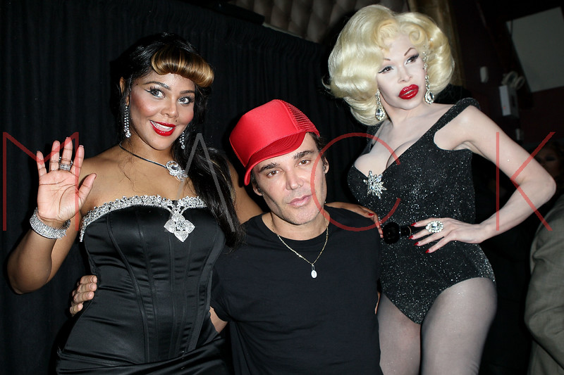 NEW YORK, NY - JUNE 11:  Recording artist Lil' Kim, photographer David LaChapelle and recording artist Amanda Lepore at Club 57 at Providence on June 11, 2011 in New York City.  (Photo by Steve Mack/S.D. Mack Pictures) *** Local Caption *** Lil' Kim; David LaChapelle; Amanda Lepore