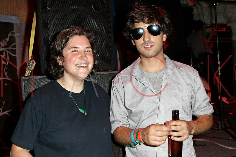 NEW YORK, NY - JUNE 19:  Nicole Schneit (vocals/guitar) and Dan Byer (bass) of Air Waves perform during the 2011 Northside Music Festival at The Glasslands Gallery on June 19, 2011 in New York City.  (Photo by Steve Mack/S.D. Mack Pictures) *** Local Caption *** Nicole Schneit; Dan Byer