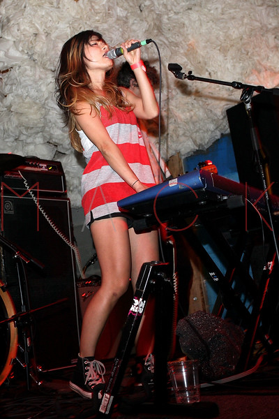 NEW YORK, NY - JUNE 19:  Yuki Chikudate (lead vocalist) of Asobi Seksu performs during the 2011 Northside Music Festival at The Glasslands Gallery on June 19, 2011 in New York City.  (Photo by Steve Mack/S.D. Mack Pictures) *** Local Caption *** Yuki Chikudate
