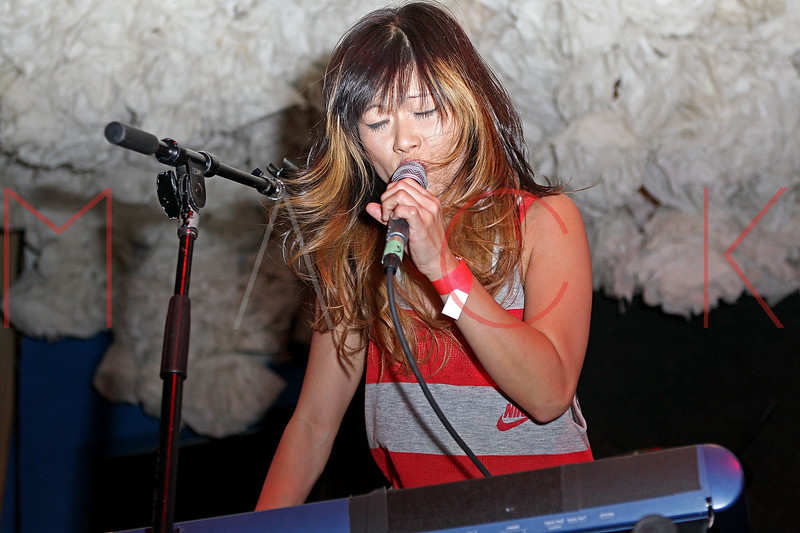 NEW YORK, NY - JUNE 19:  Yuki Chikudate (lead vocalist) for Asobi Seksu performs during the 2011 Northside Music Festival at The Glasslands Gallery on June 19, 2011 in New York City.  (Photo by Steve Mack/S.D. Mack Pictures) *** Local Caption *** Yuki Chikudate