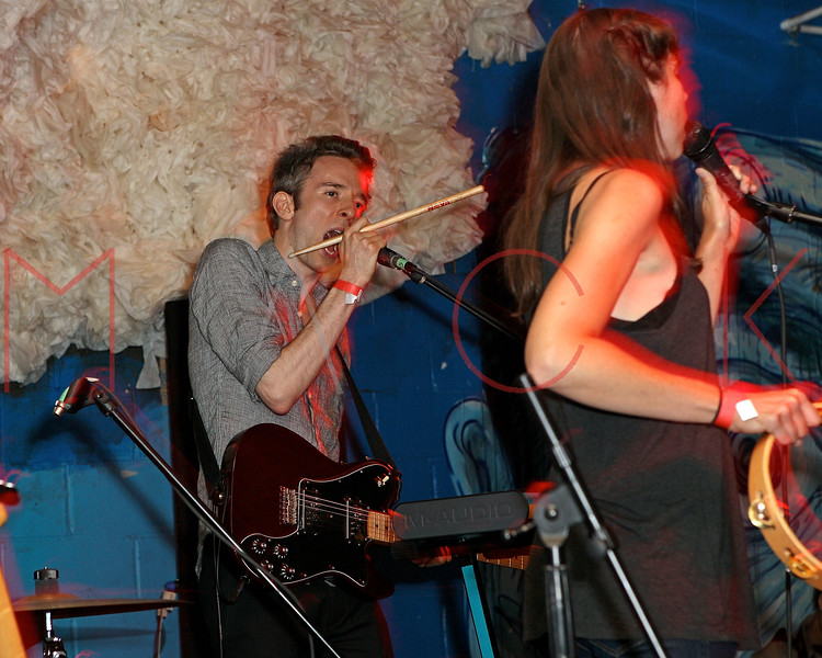 NEW YORK, NY - JUNE 19:  Ben Sterling (guitar/vocals) and Melissa Metrick (vocals) of Cookies perform during the 2011 Northside Music Festival at The Glasslands Gallery on June 19, 2011 in New York City.  (Photo by Steve Mack/S.D. Mack Pictures) *** Local Caption *** Ben Sterling; Melissa Metrick