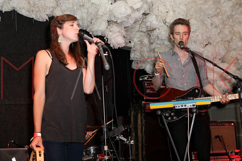 NEW YORK, NY - JUNE 19:  Melissa Metrick (vocals) and Ben Sterling (guitar/vocals) of Cookies perform during the 2011 Northside Music Festival at The Glasslands Gallery on June 19, 2011 in New York City.  (Photo by Steve Mack/S.D. Mack Pictures) *** Local Caption *** Melissa Metrick; Ben Sterling