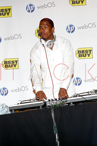 NEW YORK, NY - JUNE 30:  Nick Cannon hosts the HP TouchPad launch at Best Buy Union Square on June 30, 2011 in New York City.  (Photo by Steve Mack/S.D. Mack Pictures) *** Local Caption *** Nick Cannon