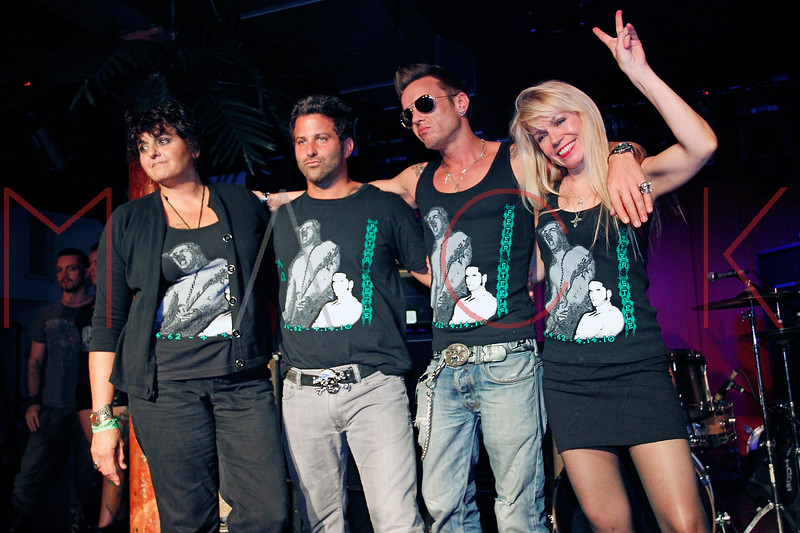 NEW YORK, NY - JUNE 30:  Cathy O'Connor, James Zoleo, Jamie McCarthy and Roberta Thompson pose on stage at the WICKED Threads fashion show at Sullivan Hall on June 30, 2011 in New York City.  (Photo by Steve Mack/S.D. Mack Pictures) *** Local Caption *** Cathy O'Connor; James Zoleo; Jamie McCarthy; Roberta Thompson