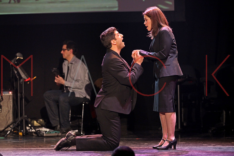 NEW YORK, NY - MARCH 07:  Tony Yazbeck and America Ferrera perform at the 2011 24 Hour Musicals at Blender Theatre on March 7, 2011 in New York City.  (Photo by Steve Mack/S.D. Mack Pictures) *** Local Caption *** Tony Yazbeck; America Ferrera