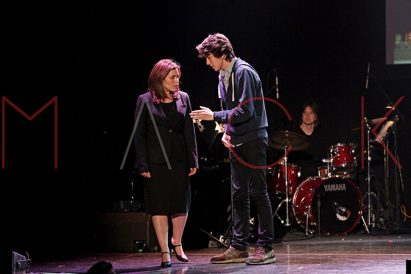 NEW YORK, NY - MARCH 07:  America Ferrera and Nate Wolff perform at the 2011 24 Hour Musicals at Blender Theatre on March 7, 2011 in New York City.  (Photo by Steve Mack/S.D. Mack Pictures) *** Local Caption *** America Ferrera; Nate Wolff