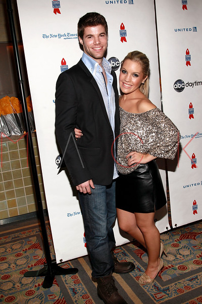 NEW YORK, NY - MARCH 13:  Nic Robuck and Kristen Alderson attend the 7th Annual ABC & SOAPnet Salute Broadway Cares/Equity Fights Aids Benefit closing celebration at The New York Marriott Marquis on March 13, 2011 in New York City.  (Photo by Steve Mack/S.D. Mack Pictures) *** Local Caption *** Nic Robuck; Kristen Alderson