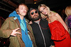 NEW YORK, NY - MARCH 24:  DJ Liam McMullan, street artist Thierry Guetta AKA Mr. Brainwash and fashion designer Alexa Winner attend designer Alexa Winner's birthday Party at The Chelsea Room on March 24, 2011 in New York City.  (Photo by Steve Mack/S.D. Mack Pictures) *** Local Caption *** Liam McMullan; Thierry Guetta; Alexa Winner