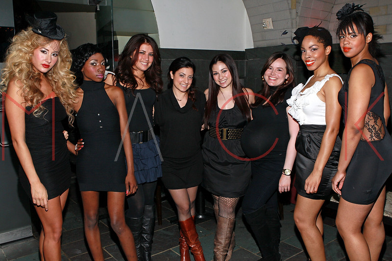 NEW YORK, NY - MARCH 26:  Models pose with members of the style team at the Art.Sound Movement Launch Party at The Bryant Park Hotel on March 26, 2011 in New York City.  (Photo by Steve Mack/S.D. Mack Pictures)