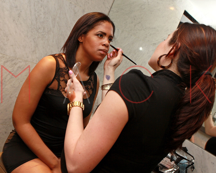 NEW YORK, NY - MARCH 26:  A model poses back stage at the Art.Sound Movement Launch Party at The Bryant Park Hotel on March 26, 2011 in New York City.  (Photo by Steve Mack/S.D. Mack Pictures)