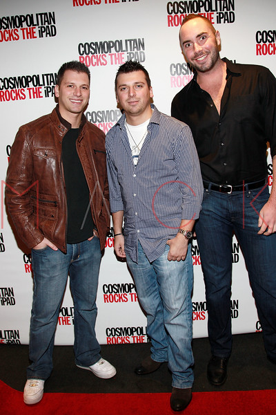 NEW YORK, NY - MARCH 23:  TV personalities Albie Manzo (L), Chris Manzo and guest attend the launch of Cosmopolitan Magazine's new iPad application at District 36 on March 23, 2011 in New York City.  (Photo by Steve Mack/S.D. Mack Pictures) *** Local Caption *** Albie Manzo; Chris Manzo