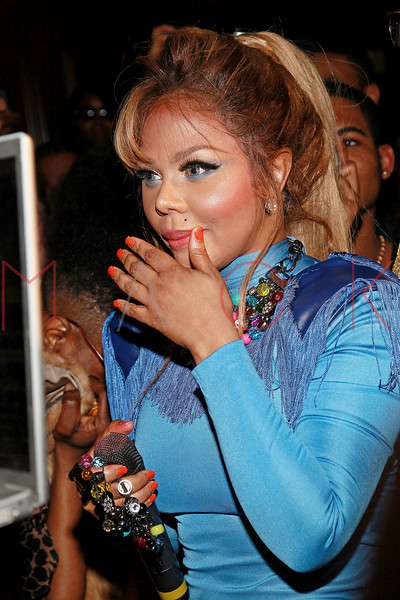 NEW YORK, NY - MARCH 12:  Lil' Kim performs at Damon's Birthday Bash at Salon Millesime on March 12, 2011 in New York City.  (Photo by Steve Mack/S.D. Mack Pictures)