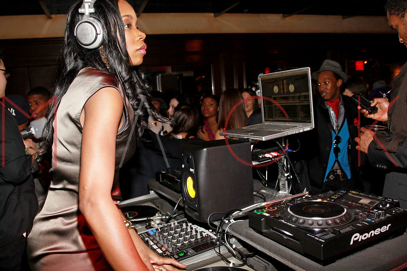 NEW YORK, NY - MARCH 12:  DJ Kiss performs at Damon's Birthday Bash at Salon Millesime on March 12, 2011 in New York City.  (Photo by Steve Mack/S.D. Mack Pictures)
