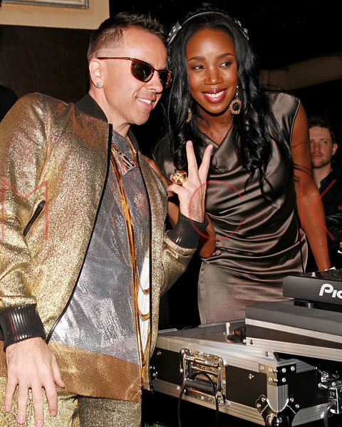 NEW YORK, NY - MARCH 12:  Damon and DJ Kiss attend Damon's Birthday Bash at Salon Millesime on March 12, 2011 in New York City.  (Photo by Steve Mack/S.D. Mack Pictures)
