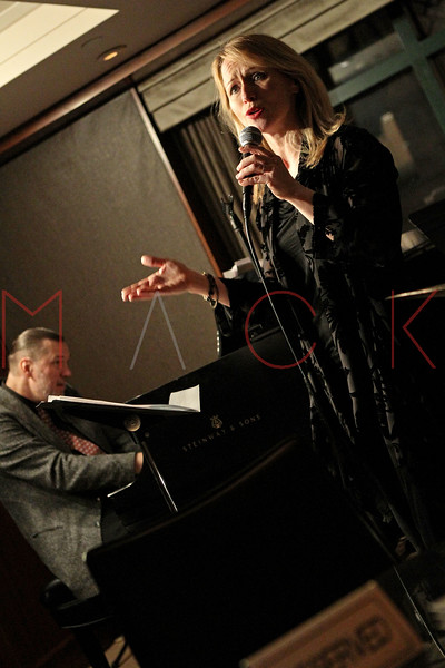 NEW YORK, NY - MARCH 23:  *** EXCLUSIVE COVERAGE *** Jon Weber (bass) and Karen Oberlin (vocals) perform at The Kitano Hotel - Jazz Room on March 23, 2011 in New York City.  (Photo by Steve Mack/S.D. Mack Pictures) *** Local Caption *** Jon Weber; Karen Oberlin