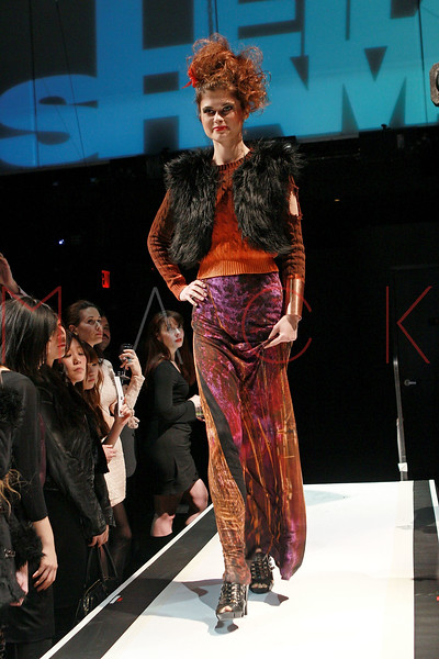 NEW YORK, NY - MARCH 25:  A model walks the runway at Leila Shams' runway fashion show to benefit the Red Cross Relief efforts in Japan at District 36 on March 25, 2011 in New York City.  (Photo by Steve Mack/S.D. Mack Pictures)