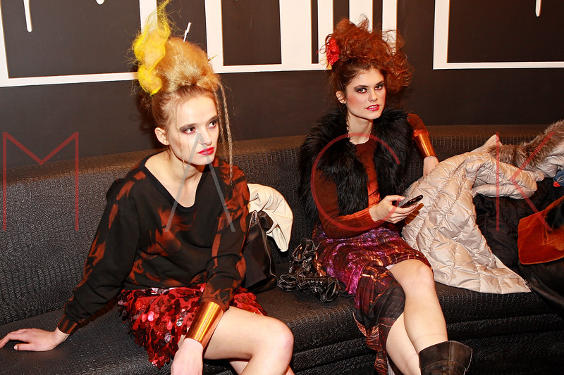 NEW YORK, NY - MARCH 25:  Models pose back stage at Leila Shams' runway fashion show to benefit the Red Cross Relief efforts in Japan at District 36 on March 25, 2011 in New York City.  (Photo by Steve Mack/S.D. Mack Pictures)