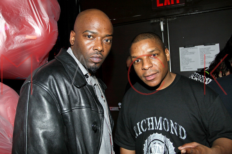 NEW YORK, NY - MARCH 26:  Treach and Vin Rock of Naughty By Nature pose back stage at the Canal Room on March 26, 2011 in New York City.  (Photo by Steve Mack/S.D. Mack Pictures) *** Local Caption *** Treach; Vin Rock