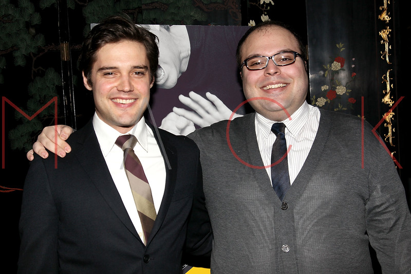 """NEW YORK, NY - MARCH 01:  Actors Joe Paulik and Anthony Manna attend the opening night of """"Timon of Athens"""" at the Chinatown Brasserie on March 1, 2011 in New York City.  (Photo by Steve Mack/S.D. Mack Pictures) *** Local Caption *** Joe Paulik; Anthony Manna"""