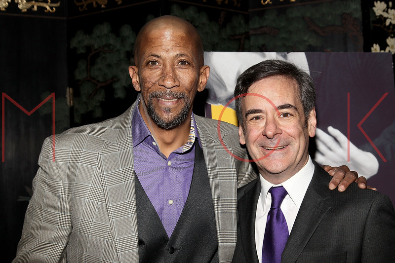 "NEW YORK, NY - MARCH 01:  Actors Reg E. Cathey and Mark Nelson attend the opening night of ""Timon of Athens"" at the Chinatown Brasserie on March 1, 2011 in New York City.  (Photo by Steve Mack/S.D. Mack Pictures) *** Local Caption *** Reg E. Cathey; Mark Nelson"