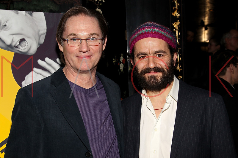 "NEW YORK, NY - MARCH 01:  Actors Richard Thomas and Max Casella attend the opening night of ""Timon of Athens"" at the Chinatown Brasserie on March 1, 2011 in New York City.  (Photo by Steve Mack/S.D. Mack Pictures) *** Local Caption *** Richard Thomas; Max Casella"