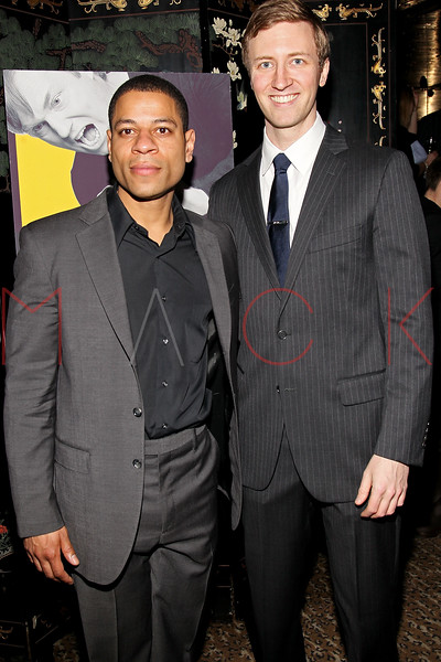 "NEW YORK, NY - MARCH 01:  Actors Che Ayende and Cary Donaldson attend the opening night of ""Timon of Athens"" at the Chinatown Brasserie on March 1, 2011 in New York City.  (Photo by Steve Mack/S.D. Mack Pictures) *** Local Caption *** Che Ayende; Cary Donaldson"