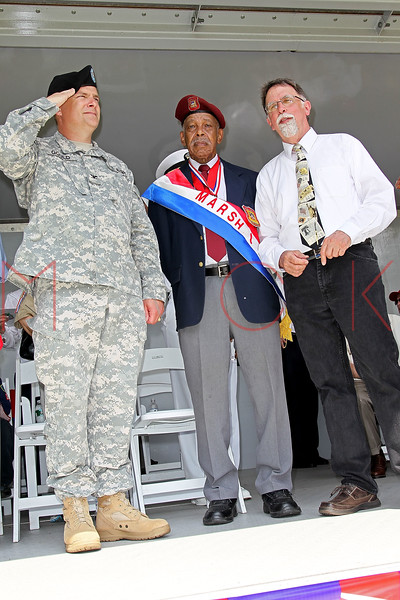 NEW YORK, NY - MAY 30:  Raymond Aalbue (R) attends the 2011 Memorial Day Parade on May 30, 2011 in the Brooklyn Borough of New York City.  (Photo by Steve Mack/S.D. Mack Pictures) *** Local Caption *** Raymond Aalbue