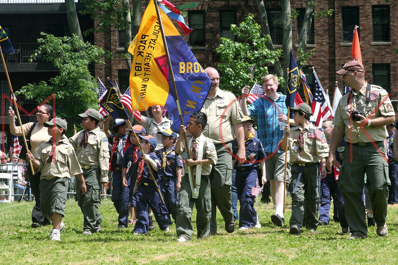 NEW YORK, NY - MAY 30:  Boy Scouts attend the 2011 Memorial Day Parade on May 30, 2011 in the Brooklyn Borough of New York City.  (Photo by Steve Mack/S.D. Mack Pictures)