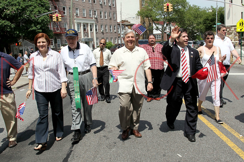 NEW YORK, NY - MAY 30:  New York City Council Speaker Christine Quinn (far left) and Marty Markowitz (middle) attend the 2011 Memorial Day Parade on May 30, 2011 in the Brooklyn Borough of New York City.  (Photo by Steve Mack/S.D. Mack Pictures) *** Local Caption *** Christine Quinn; Marty Markowitz