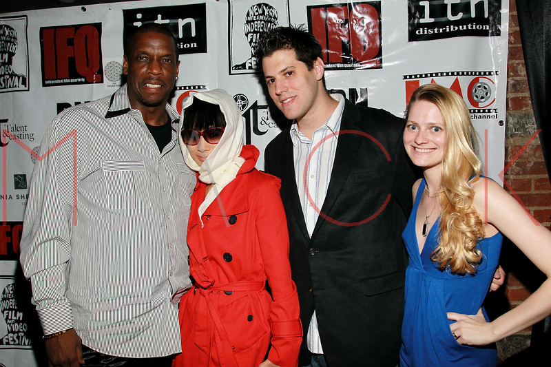 NEW YORK, NY - MAY 05:  Dwight Gooden, Bai Ling; Jeff Krauss and Hillary Flowers attend the closing party for the 2011 New York Independent film festival at The Chelsea Room on May 5, 2011 in New York City.  (Photo by Steve Mack/FilmMagic)
