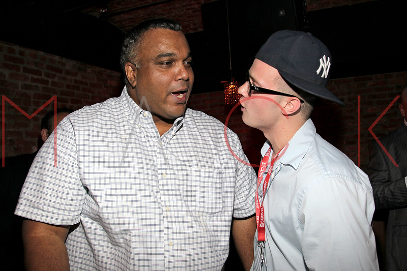 NEW YORK, NY - MAY 05:  Kamal Ahmed of the Jerky boys and Shawn Michael Lukaszewicz attend the closing party for the 2011 New York International Independent film festival at The Chelsea Room on May 5, 2011 in New York City.  (Photo by Steve Mack/FilmMagic)
