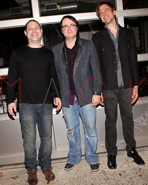 NEW YORK, NY - MAY 19:  Seth Masarsky, Willem Hartong  and Rob Chojnacki at Rockwood Music Hall on May 19, 2011 in New York City.  (Photo by Steve Mack/S.D. Mack Pictures)