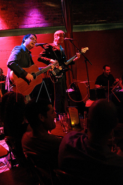 NEW YORK, NY - MAY 19:  Willem Hartong, Rob Chojnacki and  Seth Masarsky perform at Rockwood Music Hall on May 19, 2011 in New York City.  (Photo by Steve Mack/S.D. Mack Pictures)
