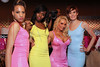 NEW YORK, NY - MAY 22:  Coco (2nd from right) poses with models wearing her fashion at the Coco Licious Clothing launch party at the Grace Hotel on May 22, 2011 in New York City.  (Photo by Steve Mack/S.D. Mack Pictures) *** Local Caption *** Coco
